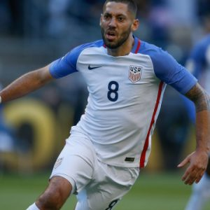 SEATTLE, WA - JUNE 16: Clint Dempsey #8 of the United States reacts after scoring a goal against Ecuador during the 2016 Quarterfinal - Copa America Centenario match at CenturyLink Field on June 16, 2016 in Seattle, Washington. (Photo by Otto Greule Jr/Getty Images)